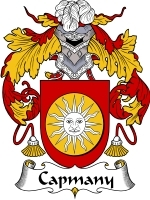 Primary image for Capmany Family Crest / Coat of Arms JPG or PDF Image Download
