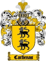 Primary image for Cardenas Family Crest / Coat of Arms JPG or PDF Image Download