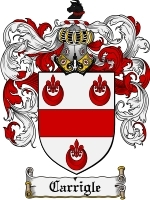 Primary image for Carrigle Family Crest / Coat of Arms JPG or PDF Image Download