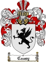 Primary image for Causy Family Crest / Coat of Arms JPG or PDF Image Download