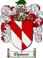 Primary image for Chawcer Family Crest / Coat of Arms JPG or PDF Image Download
