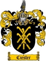 Ciesler Family Crest / Coat of Arms JPG or PDF Image Download - $6.99