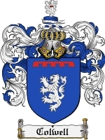 Primary image for Colwell Family Crest / Coat of Arms JPG or PDF Image Download