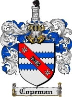 Copeman Family Crest / Coat of Arms JPG or PDF Image Download
