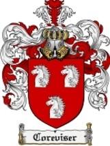 Coreviser Family Crest / Coat of Arms JPG or PDF Image Download - $6.99