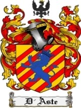 D'Aste Family Crest / Coat of Arms JPG or PDF Image Download - $6.99