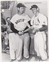 Ted Williams Stan Musial  Red Sox Cardinalls 8X10 BW Baseball Memorabilia Photo - $6.99