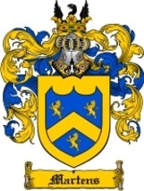 Martens Family Crest / Coat of Arms JPG or PDF Image Download - $6.99