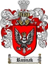 Rusnak Family Crest / Coat of Arms JPG or PDF Image Download - $6.99