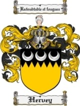 Hervey Family Crest / Coat of Arms JPG or PDF Image Download - $6.99