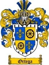 Ortega Family Crest / Coat of Arms JPG or PDF Image Download - $6.99