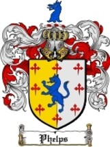 Phelps Family Crest / Coat of Arms JPG or PDF I... - $6.99