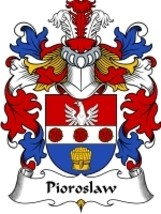 Pioroslaw Family Crest / Coat of Arms JPG or PDF Image Download - $6.99