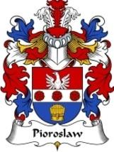 Pioroslaw Family Crest / Coat of Arms JPG or PDF Image Download - $6.99