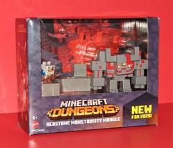 Minecraft Dungeons Redstone Monstrosity Mangle Action Figure Set NEW - $28.98