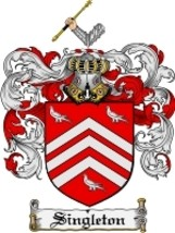 Singleton Family Crest / Coat of Arms JPG or PDF Image Download - $6.99