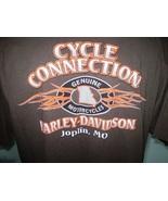 Harley-Davidson Brown Pocket T-Shirt 2XL Joplin, Missouri - $20.00