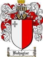 Primary image for Buhagiar Family Crest / Coat of Arms JPG or PDF Image Download