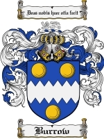 Primary image for Burrow Family Crest / Coat of Arms JPG or PDF Image Download