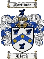 Primary image for Clerk Family Crest / Coat of Arms JPG or PDF Image Download