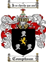 Primary image for Comptaun Family Crest / Coat of Arms JPG or PDF Image Download
