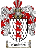 Primary image for Coombes Family Crest / Coat of Arms JPG or PDF Image Download