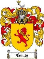 Coully Family Crest / Coat of Arms JPG or PDF Image Download