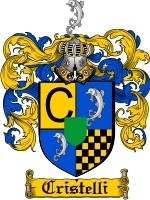 Primary image for Cristelli Family Crest / Coat of Arms JPG or PDF Image Download