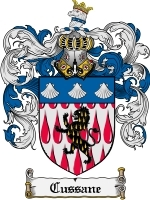Primary image for Cussane Family Crest / Coat of Arms JPG or PDF Image Download