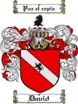 David Family Crest / Coat of Arms JPG or PDF Image Download - $6.99
