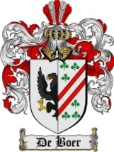 De'Boer Family Crest / Coat of Arms JPG or PDF Image Download - $6.99