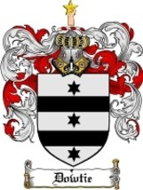 Dowtie Family Crest / Coat of Arms JPG or PDF Image Download - $6.99