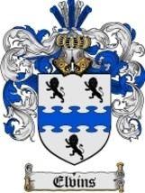 Elvins Family Crest / Coat of Arms JPG or PDF Image Download - $6.99