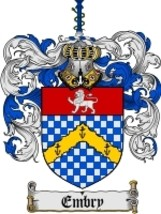Embry Family Crest / Coat of Arms JPG or PDF Image Download - $6.99