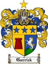Garrick Family Crest / Coat of Arms JPG or PDF Image Download - $6.99