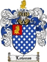 Lownes Family Crest / Coat of Arms JPG or PDF Image Download - $6.99