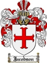 Jacobson Family Crest / Coat of Arms JPG or PDF Image Download - $6.99