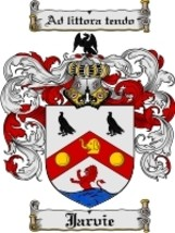 Jarvie Family Crest / Coat of Arms JPG or PDF Image Download - $6.99