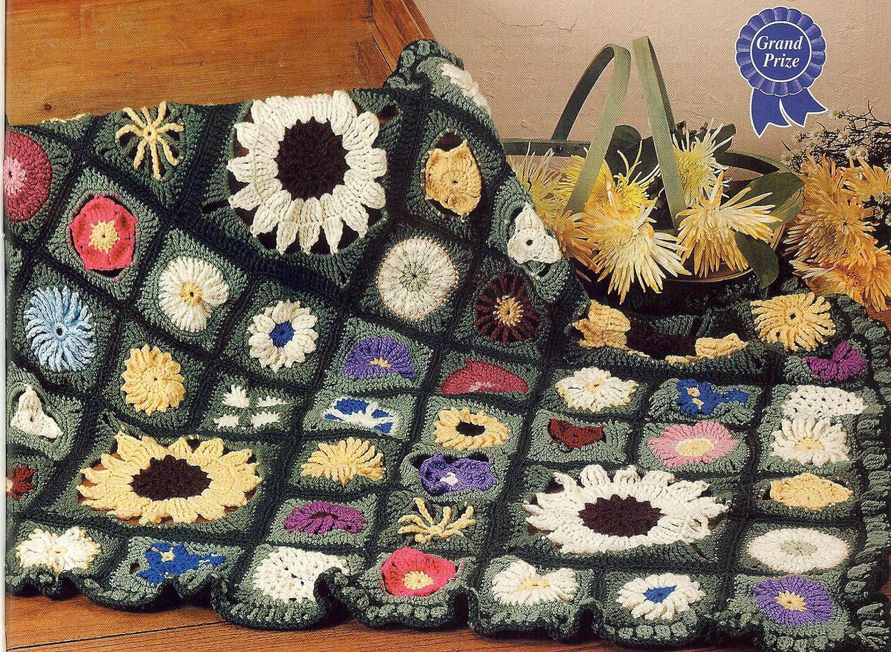 Award Winning Field Of Flowers Crochet and 50 similar items