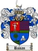 Rusan Family Crest / Coat of Arms JPG or PDF Image Download - $6.99