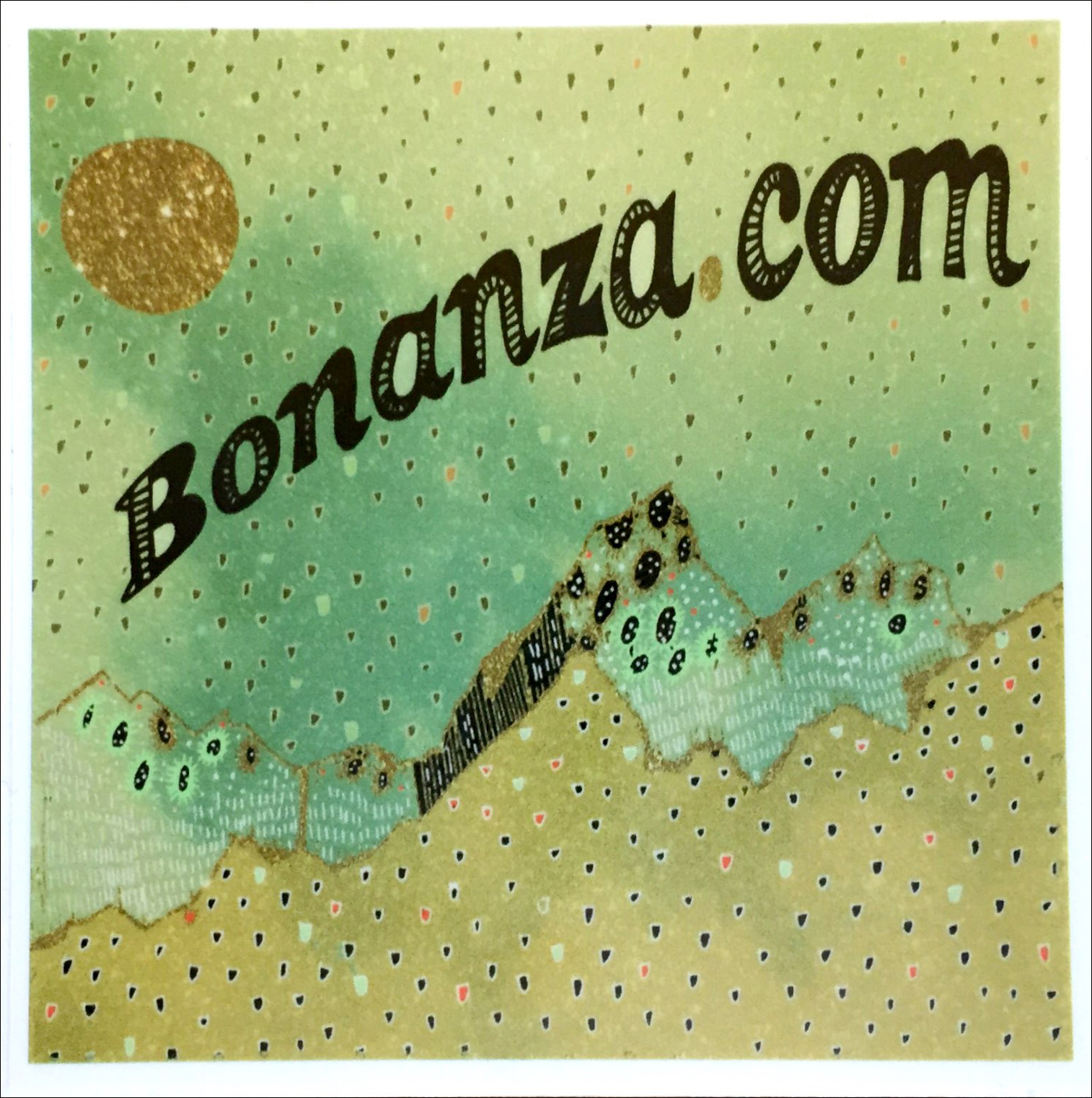 "Primary image for ""Green Mountain"" Bonanza Sticker"