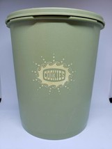 Vintage Tupperware Avacado Green Canister With Lid COOKIES - $23.38