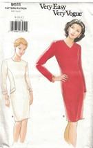 9511 Uncut Vogue Couture Motif Femmes Coupe Moulante Fuselé Robe Ff Très... - $9.98
