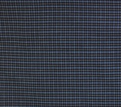 "Navy Blue Plaid Fabric One Way Stretch 3 Yards x 44"" Check - $14.99"