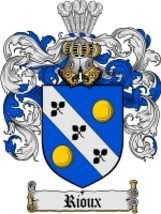 Rioux Family Crest / Coat of Arms JPG or PDF Image Download - $6.99