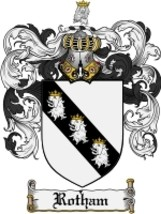 Rotham Family Crest / Coat of Arms JPG or PDF Image Download - $6.99