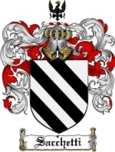 Sacchetti Family Crest / Coat of Arms JPG or PDF Image Download - $6.99