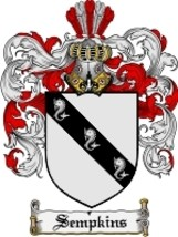Sempkins Family Crest / Coat of Arms JPG or PDF Image Download - $6.99