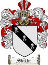 Sinkin Family Crest / Coat of Arms JPG or PDF Image Download - $6.99