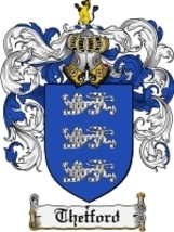 Thetford Family Crest / Coat of Arms JPG or PDF Image Download - $6.99